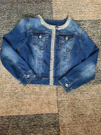 Джинсовка джинсовый пиджак 42 44 S M