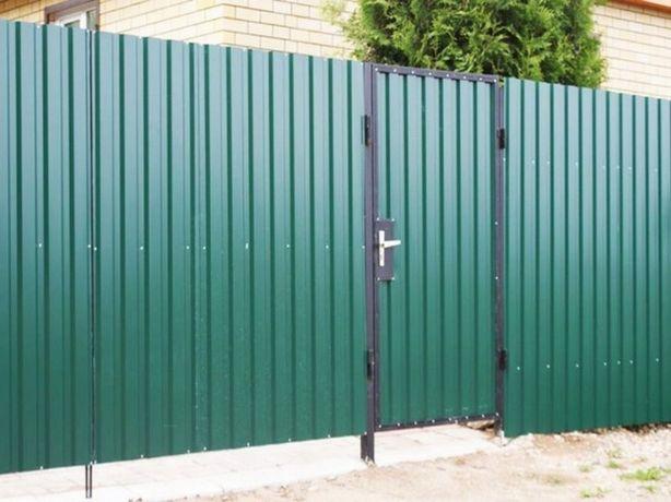 Заборы, ворота, калитки из профнастила и др.материалов.