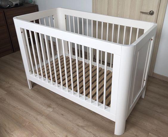 Łóżeczko białe Troll Nursery SUN 60x120