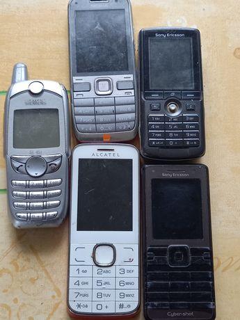 Telefony stare komórkowe ,zestaw 5 sztuki  nr 2