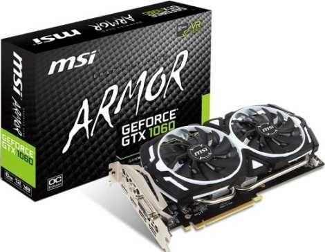 Видеокарта MSI GeForce GTX 1060 6GB GDDR5 (GTX 1060 ARMOR 6G OCV1)