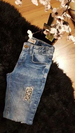 Nowość 2021:) spodnie SLIM DETROIT z łatami roz 146 cudowne