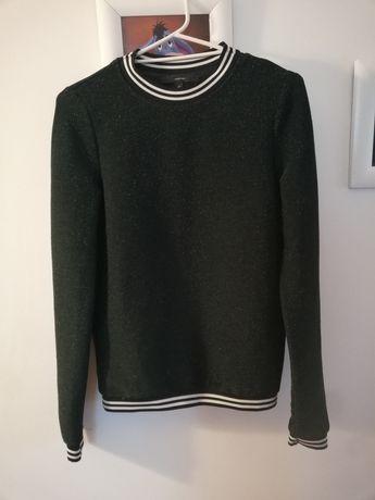 Bluzs bluzka ciemnozielona rozmiar XS jak S