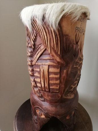 Барабан,экзотическое дерево и кожа