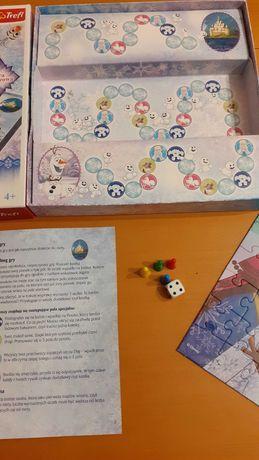 Gra planszowa + puzzle Frozen Kraina lodu Anna i Elza