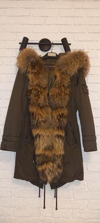 Зимняя парка с натуральным мехом курточка