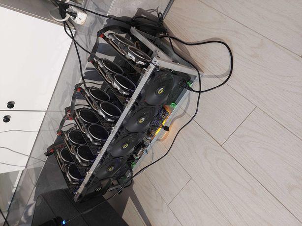 Koparka Etherum Eth ok 190 hashrate 6 x rx 580 8 gb pracuje na biezaco