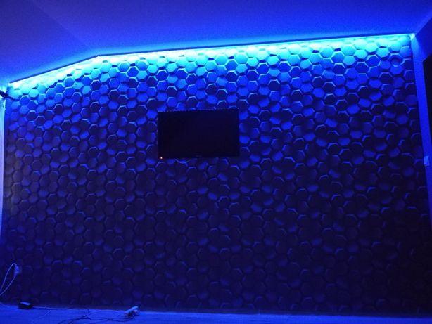 Panel dekoracji 3D ! Panel gipsowy z wlóknem