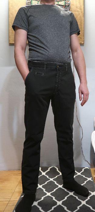 Spodnie materiałowe Męskie z elastanem BRUHL ciemna zieleń W34S Gdynia - image 1