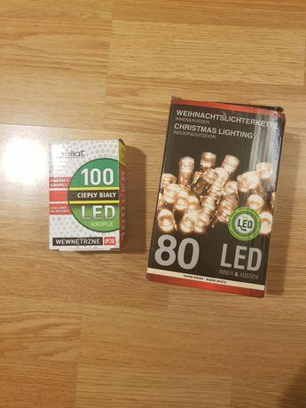 Lampki choinkowe led 180 sztuk (100 szt 80 szt)