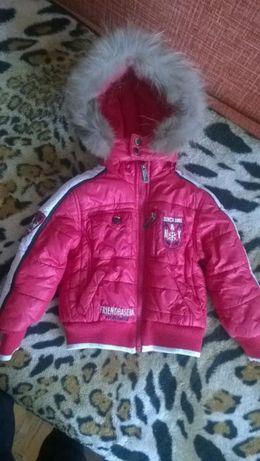 Зимняя куртка с натуральным мехом 2-3гОригинал