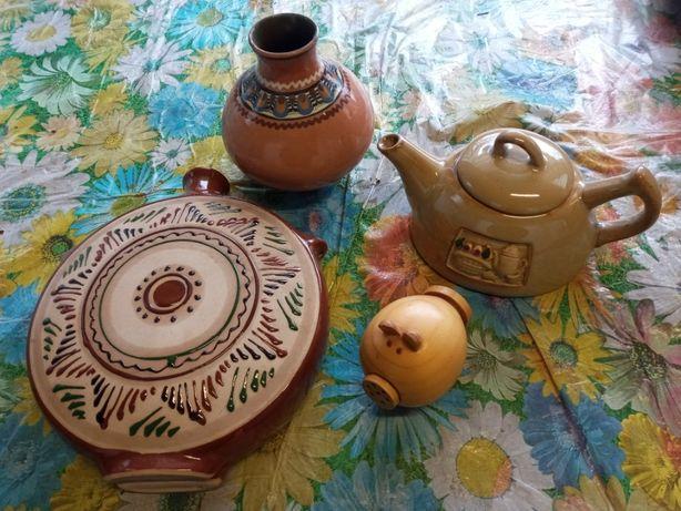 Глиняные декоративные вазы, Глиняный чайничек