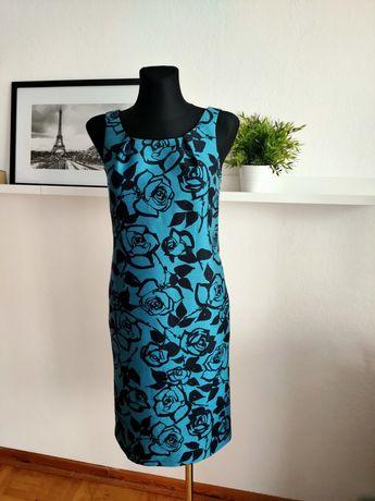 Sukienka LK Bennett London jedwab z wełną