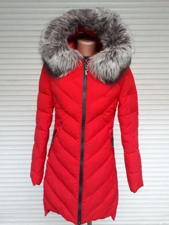 Куртка чернобурка красная