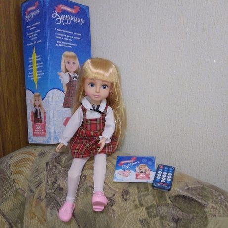Кукла принцесса Эрудиция на пульте шарнирная, обучающая 300 ответов