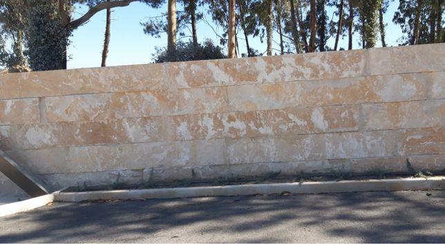 Talude e muro dreno
