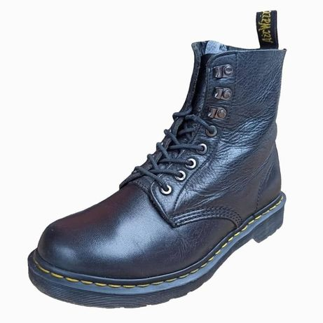 dr. martens 1460pm black virginia leather ankle boots