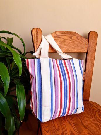 Materiałowa torba plażowa (letnia)