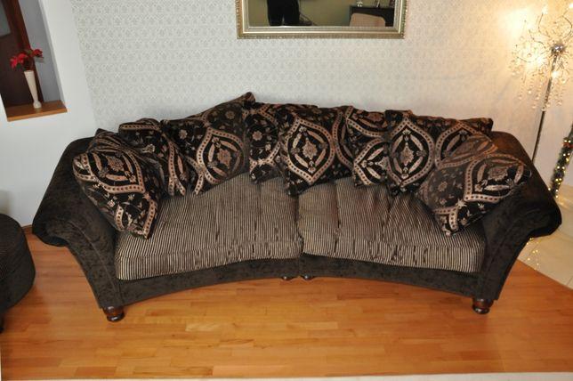 Kanapa, sofa ciemna oraz jasna, elegancka