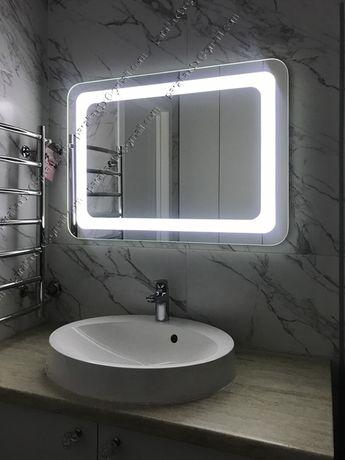Зеркало с лед подсветкой. Дзеркало з підсвіткою. Зеркало в ванную комн