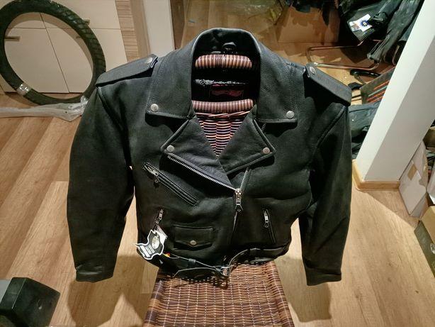 Ramoneska L&J 100% skóra motocyklowa chopper cruiser nowa rozmiar XL