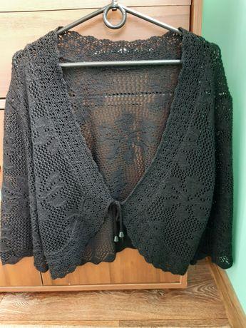 Вязаное  чёрное болеро