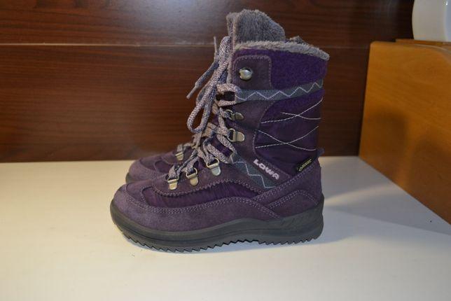Lowa emely gtx 30р сапожки ботинки зимние кожаные gore-tex на молнии