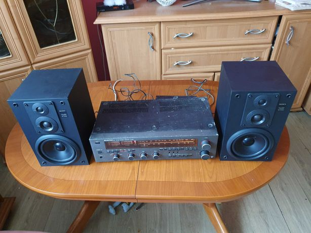 Amplituner radio wzmacniacz Unitra at9100 kolumny sony ss-h3300