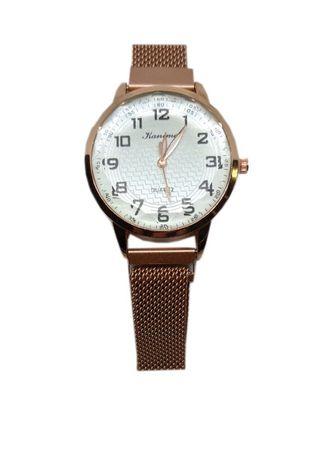 Часы кварцевые Kanima на браслете с магнитом. Коричневый