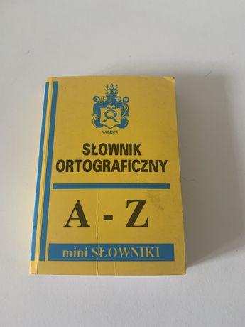 """Mini Słownik ortograficzny A-Z """"Nałęcz"""""""