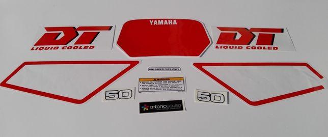 Autocolantes Yamaha DT50 LC vintage stickers decalS