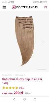 Włosy naturalne clip