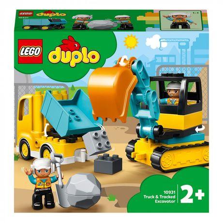 Lego Duplo, набор грузовик и гусеничный экскаватор. Ориганал.