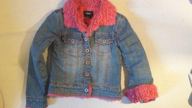 KURTKA jeansowa dla dziewczynki rozm. 6-7 lat