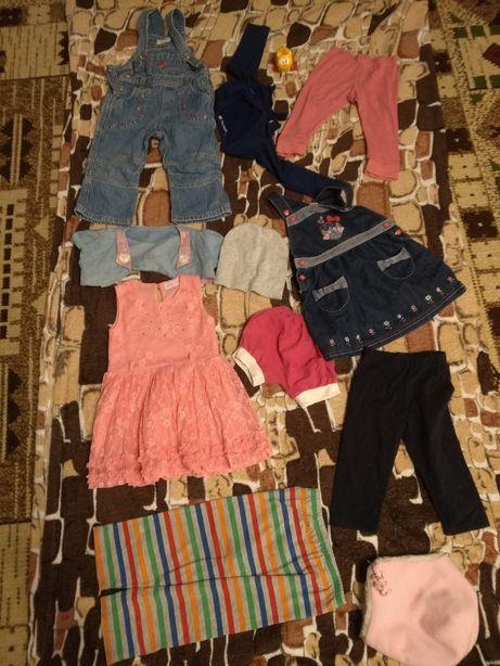 Одежда на 1-2 года детская для девочки ребенка комбинезон платье