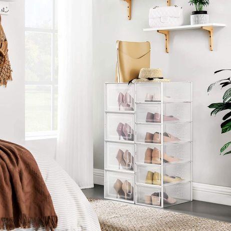 OUTLET - Zestaw 10 pudełek na buty zabawki książki organizer płyty