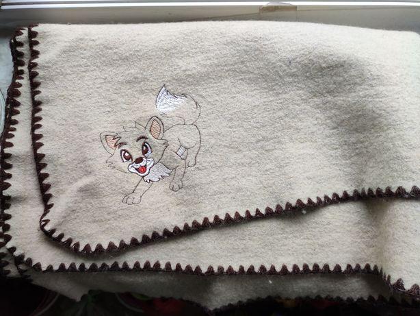 Одеяло детское ТМ Ярослав 50%лен 50%шерсть
