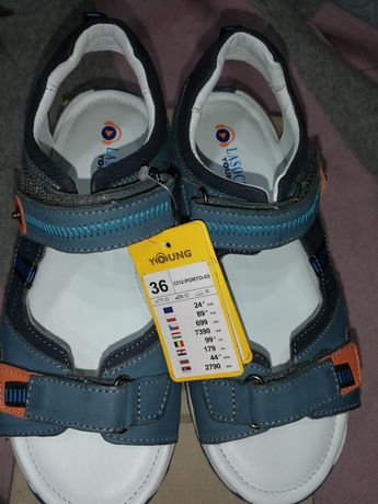 Sandałki chłopięce 36 Lasocki skóra