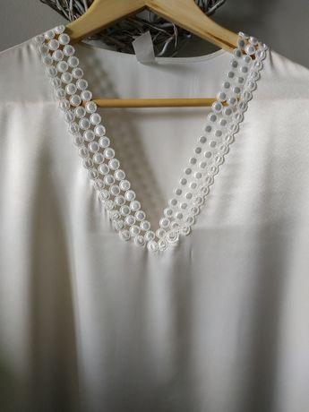 Koszula nocna satynowa kremowa Coemi XL (44)