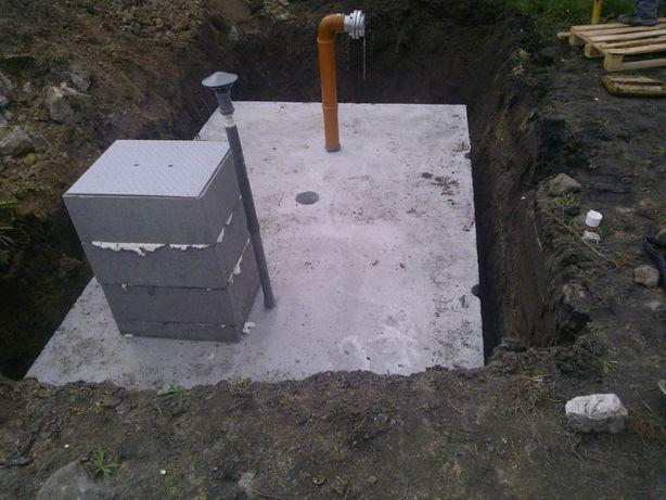 Szamba betonowe, Zbiornik betonowy na deszczówkę,Zbiorniki na szambo