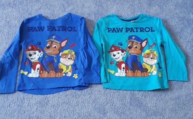 Psi Patrol Nickelodeon 2 x bluzka długi rękaw rozmiar 92