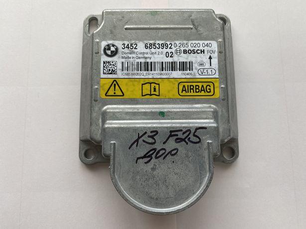 Bmw x3 f25 блок airbag 0265020040 bosch бмв х3 ф25 блок подуш 6853992