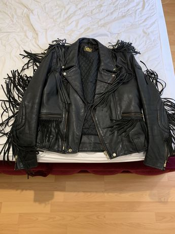 Кожанная куртка для байкера