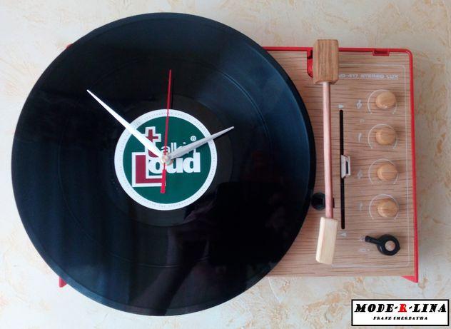 zegar gramofon płyta winylowa