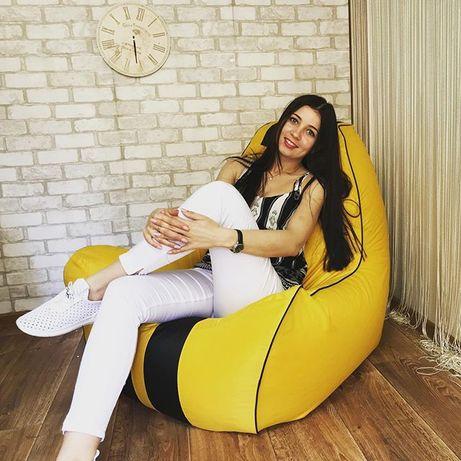 Кресло мешок Феррари, мягкий пуф,кресло мешок ( Груша),Печать.Средний!