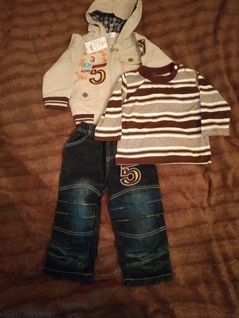 Комплект тройка ( курточка, гольф, джинсы) .