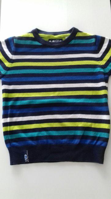Sweter, sweterek w paski rozmiar 110