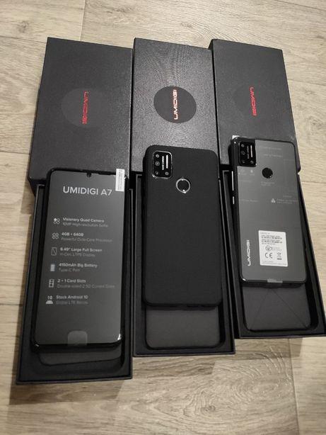 Смартфон UMIDIGI A7 Gray And10 4/64гб экран 6,3 дюймов новые+чехол