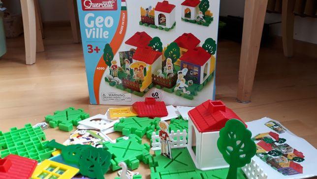 Quercetti Geoville Klocki domki układanka