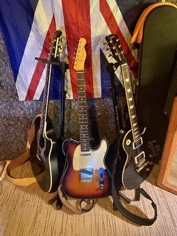 Fender American Vintage Telecaster e Gibson Les Paul